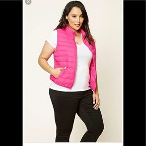 ❤️ Lord&taylor pink puffer down vest new